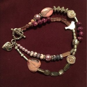 Jewelry - Beautiful combination of pink and gray beads.